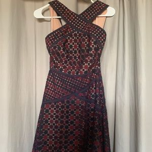 NEW W/ Tags BCBG Woven Geo Cocktail Dress